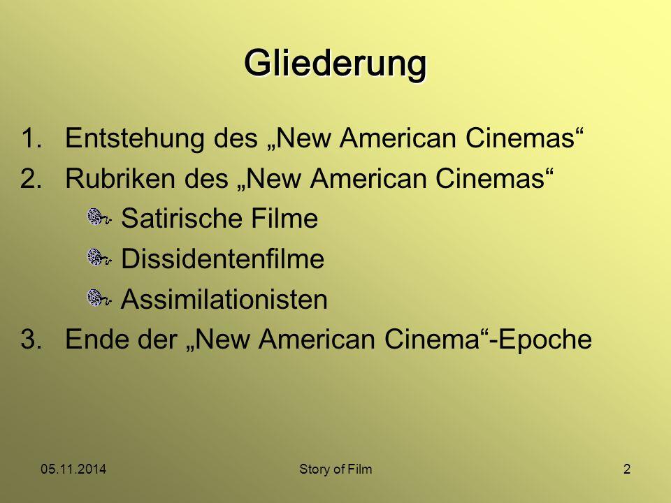 "05.11.2014Story of Film3 Entstehung des ""New American Cinema Studentenproteste gegen Vietnamkrieg Hippiebewegung Bürgerrechtsbewegung"