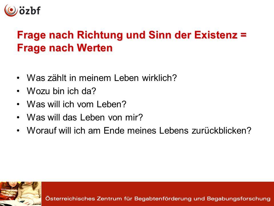 Werte im System der Persönlichkeit Werte im System der Persönlichkeit www.aufwind-austria.at (28.10.2010) www.aufwind-austria.at