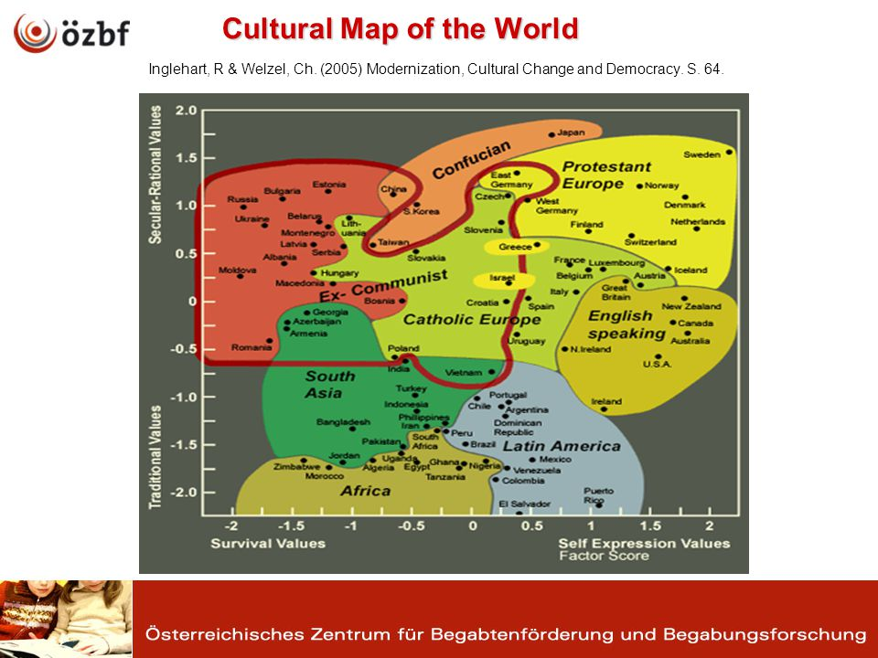 Cultural Map of the World Cultural Map of the World Inglehart, R & Welzel, Ch.