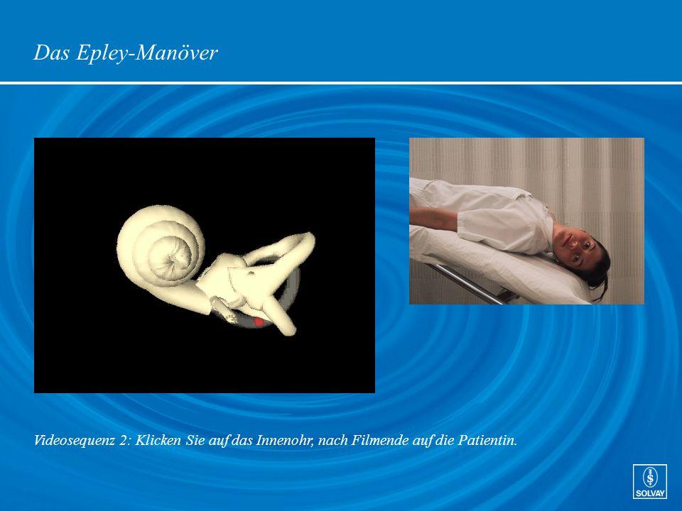 Das Epley-Manöver Videosequenz 2: Klicken Sie auf das Innenohr, nach Filmende auf die Patientin.