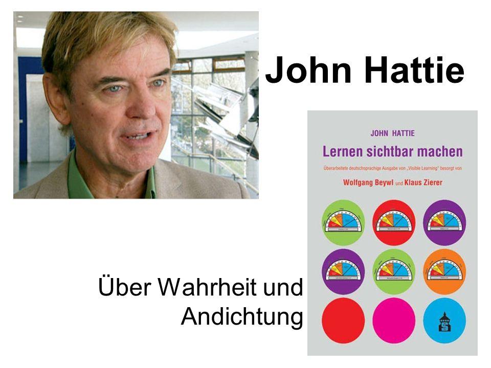 Was sagte man Ihnen von John Hattie ?