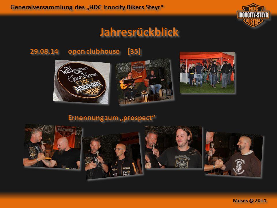 """Generalversammlung des """"HDC Ironcity Bikers Steyr"""" Moses @ 2014 Jahresrückblick 29.08.14open clubhouse [35] Ernennung zum """"prospect"""""""