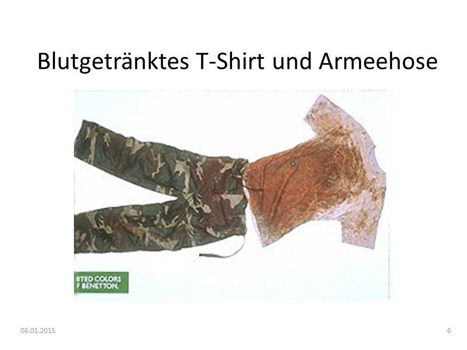 06.01.20157 Blutgetränktes T-Shirt und Armeehose 1993 Starb der Soldat.