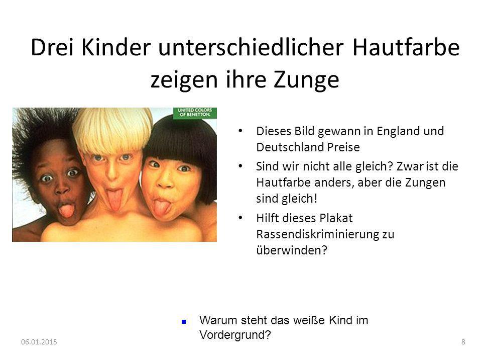 06.01.20158 Drei Kinder unterschiedlicher Hautfarbe zeigen ihre Zunge Dieses Bild gewann in England und Deutschland Preise Sind wir nicht alle gleich?