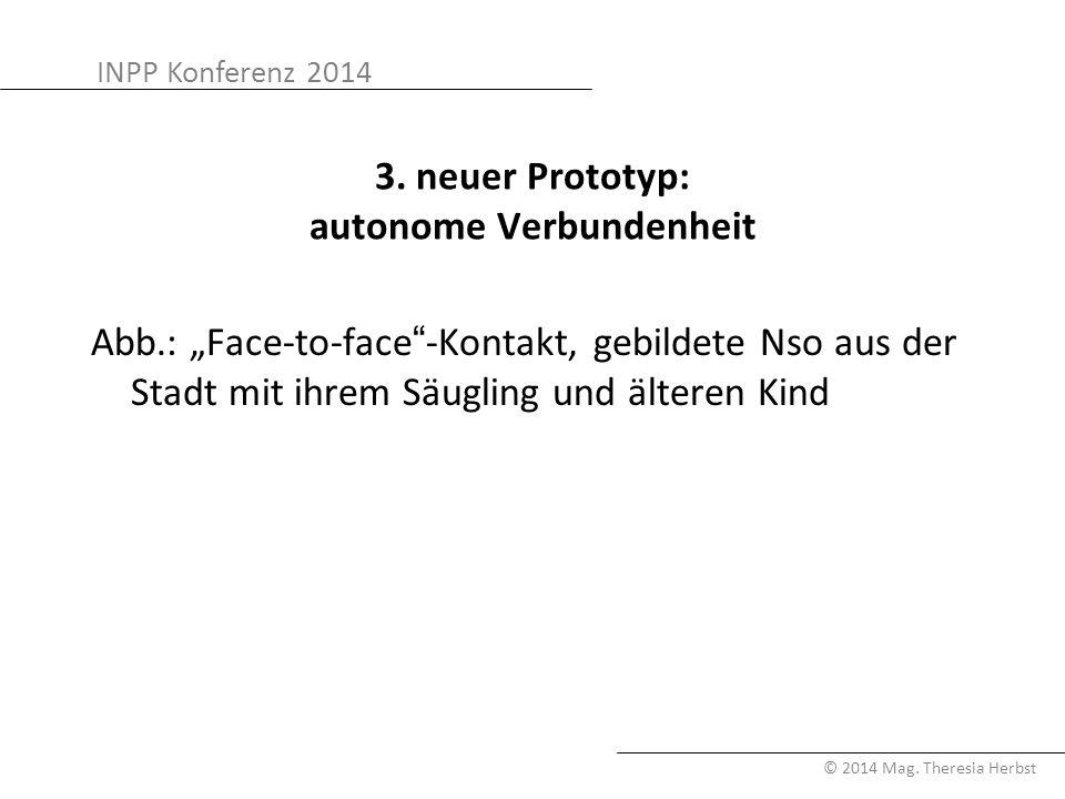 "INPP Konferenz 2014 © 2014 Mag. Theresia Herbst 3. neuer Prototyp: autonome Verbundenheit Abb.: ""Face-to-face""-Kontakt, gebildete Nso aus der Stadt mi"