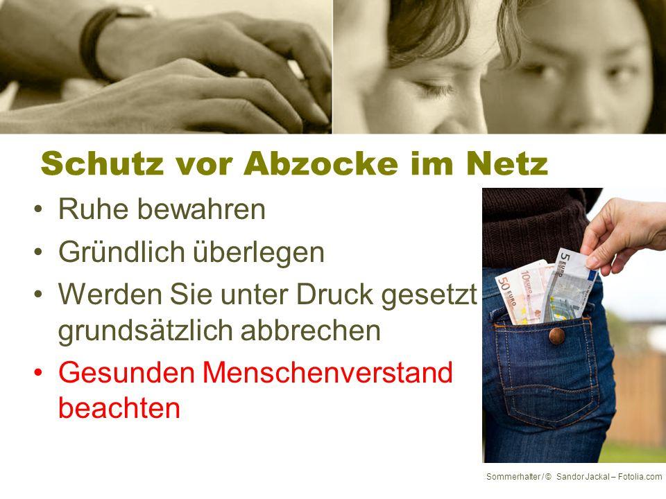 Abgezockt ! Sommerhalter / © Ingo Bartussek – Fotolia.com 6. Kapitel