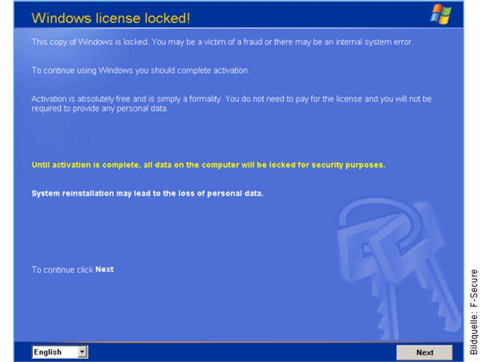 Ransomware / Erpressung Ransomware sind Computerprogramme, mit deren Hilfe ein Eindringling private Daten auf einem fremden Computer verschlüsseln kan