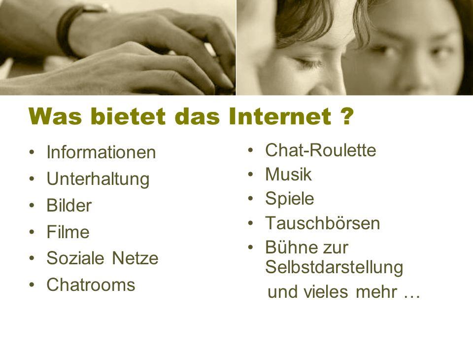 Internet Zahlen, Fakten, Konsequenzen 1. Kapitel
