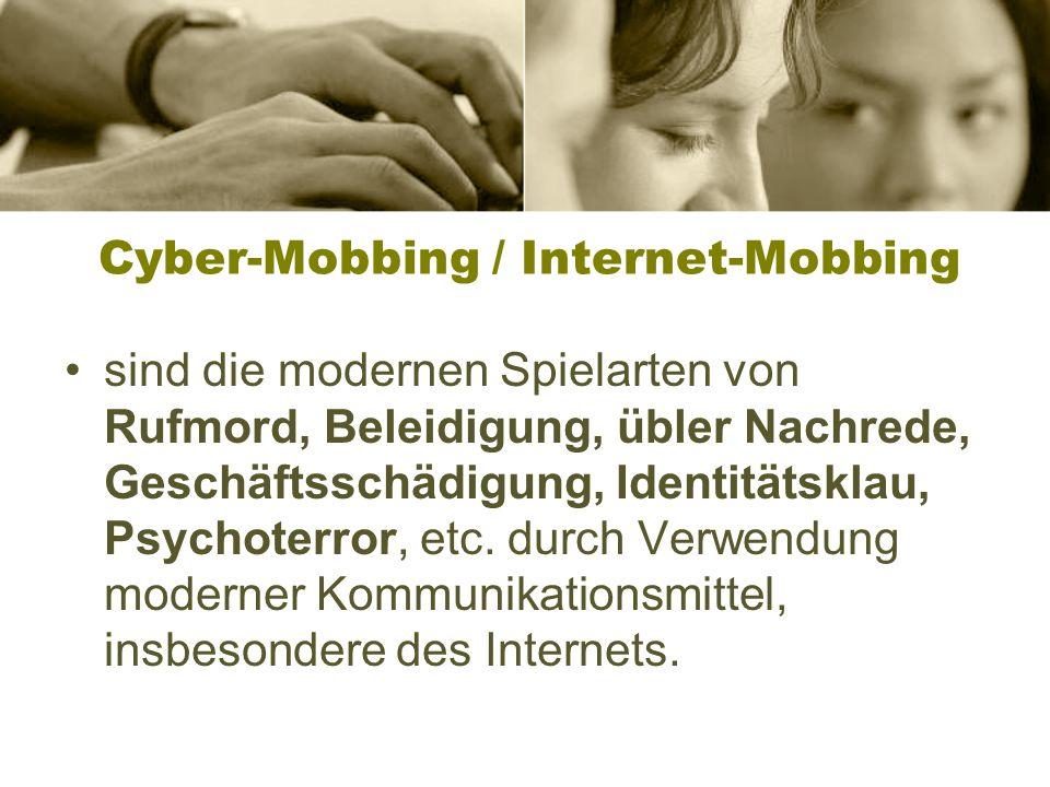 Mobbing im Internet 5. Kapitel