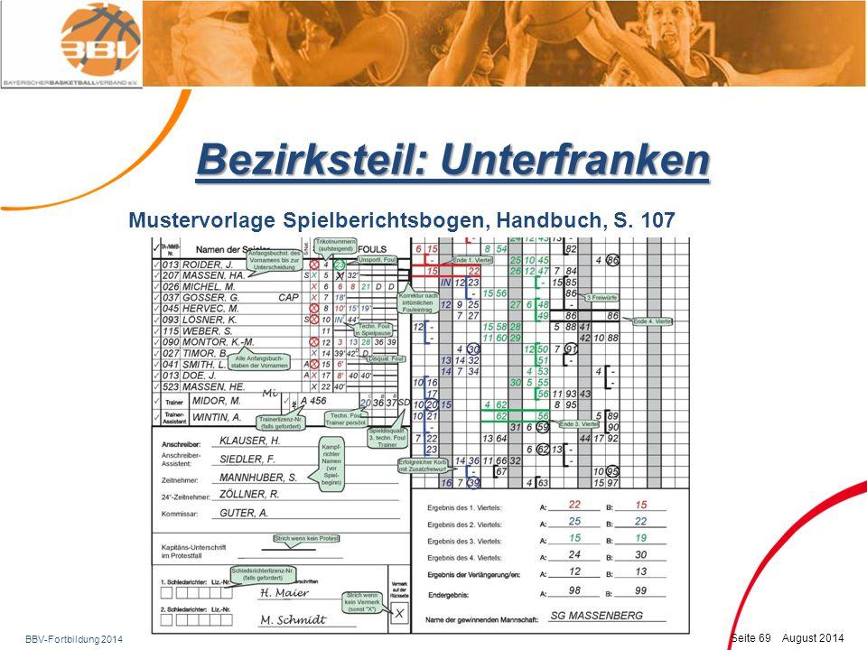 BBV-Fortbildung 2014 Seite 70 August 2014 Fragen ?