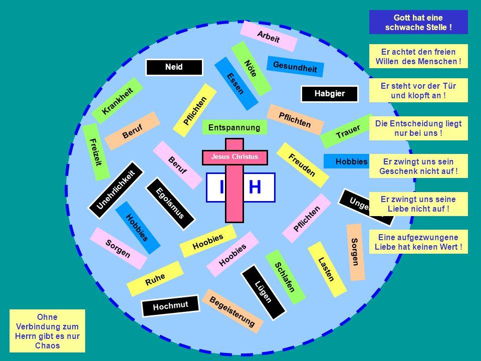 Egoismus I C H Welches größtmögliche Geschenk hält Gott für uns bereit.