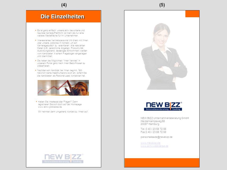 (5)(4) NEW BIZZ Unternehmensberatung GmbH Heidenkampsweg 66 20097 Hamburg Tel.