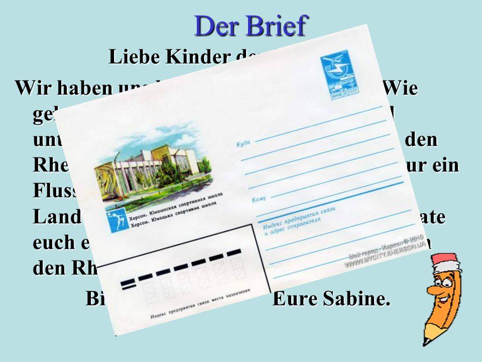 Der Rhein ist für die BRD nicht nur ein Fluss, sondern auch die Geschichte des Landes.