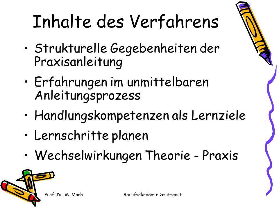 Prof. Dr. M. MochBerufsakademie Stuttgart