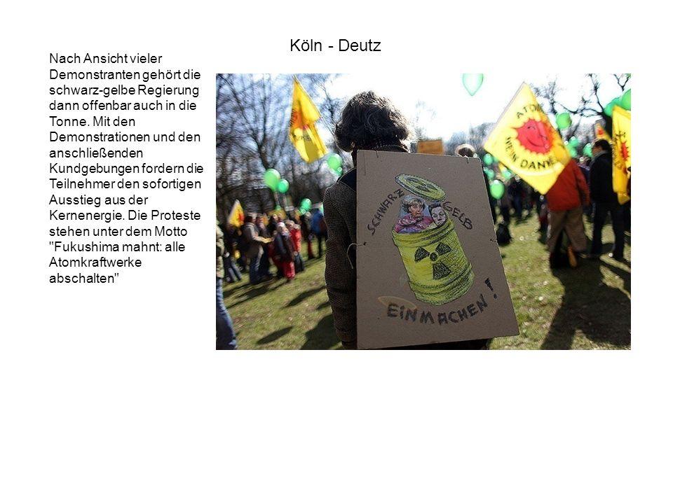 Nach Ansicht vieler Demonstranten gehört die schwarz-gelbe Regierung dann offenbar auch in die Tonne. Mit den Demonstrationen und den anschließenden K