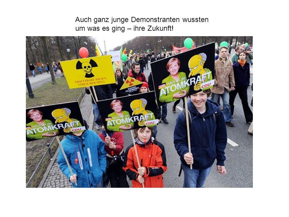 Auch ganz junge Demonstranten wussten um was es ging – ihre Zukunft!