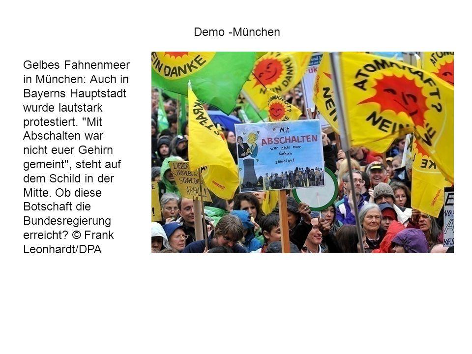 Gelbes Fahnenmeer in München: Auch in Bayerns Hauptstadt wurde lautstark protestiert.