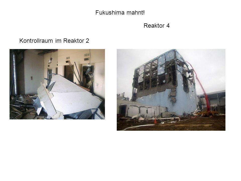 Kontrollraum im Reaktor 2 Reaktor 4 Fukushima mahnt!