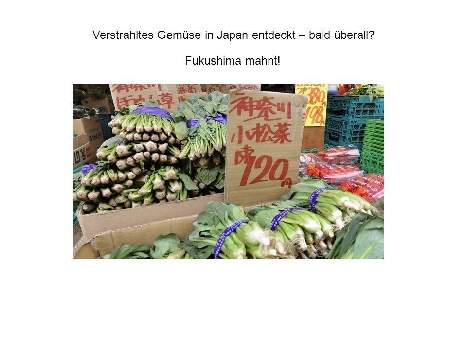 Verstrahltes Gemüse in Japan entdeckt – bald überall? Fukushima mahnt!