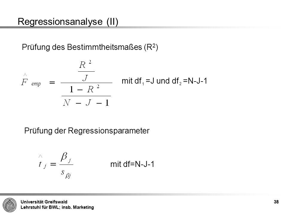 Universität Greifswald Lehrstuhl für BWL; insb.