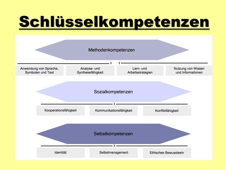 Projektziele Handlungskompetente Lernende Metakognition (über sich selber nachdenken können) «Der Weg ist das Ziel»