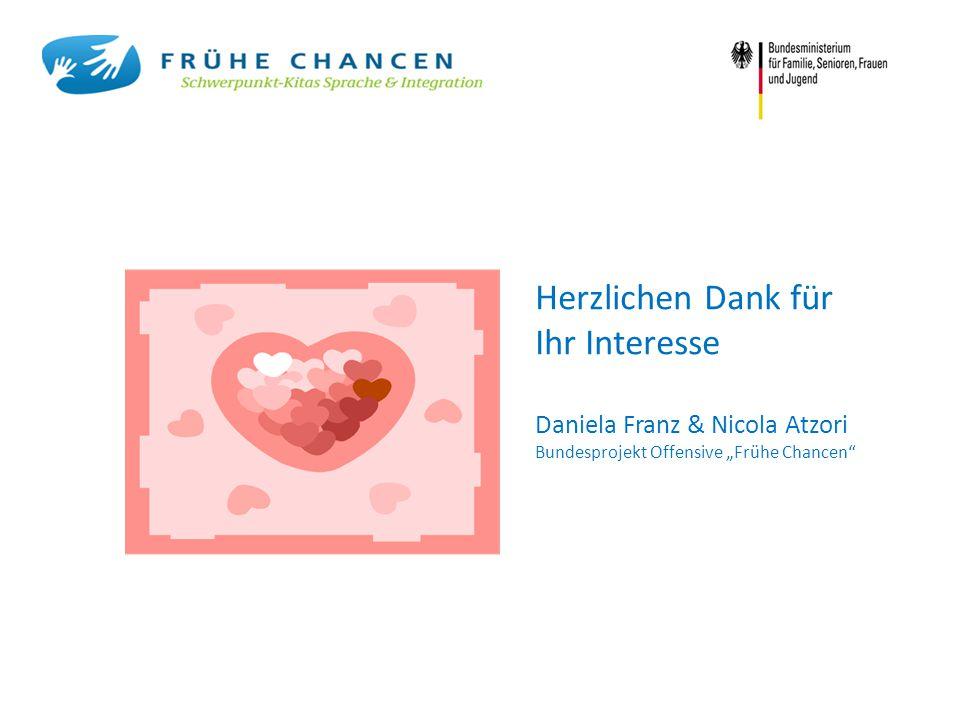 """Herzlichen Dank für Ihr Interesse Daniela Franz & Nicola Atzori Bundesprojekt Offensive """"Frühe Chancen"""