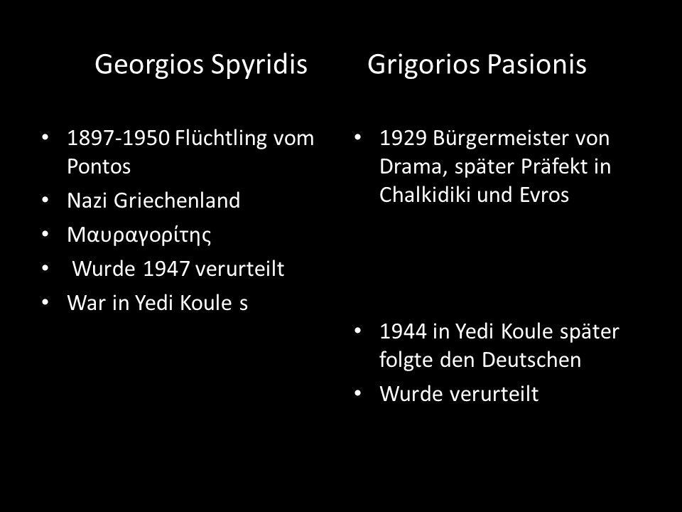 Georgios Spyridis Grigorios Pasionis 1897-1950 Flüchtling vom Pontos Nazi Griechenland Μαυραγορίτης Wurde 1947 verurteilt War in Yedi Koule s 1929 Bür