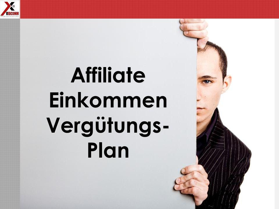 Affiliate Einkommen Vergütungs-Plan
