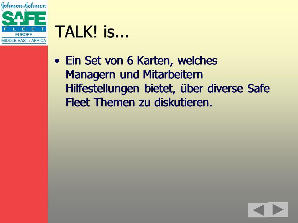 TALK. is...