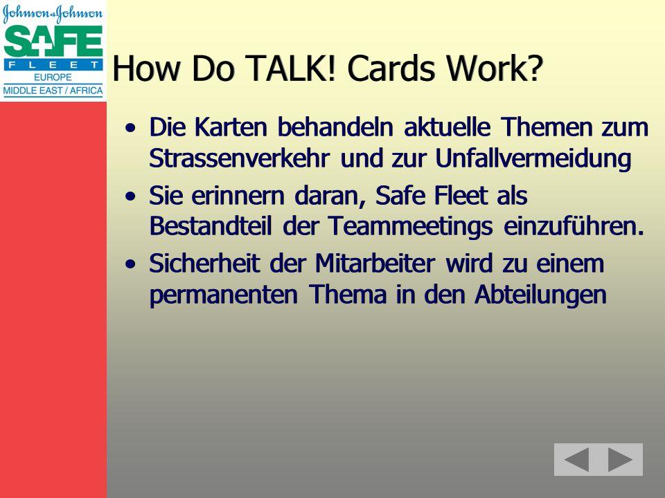 How Do TALK. Cards Work.