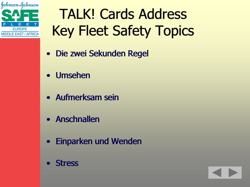 TALK.is all about the ! Mark Symbolizing Passion SAFE Fleet is personal.