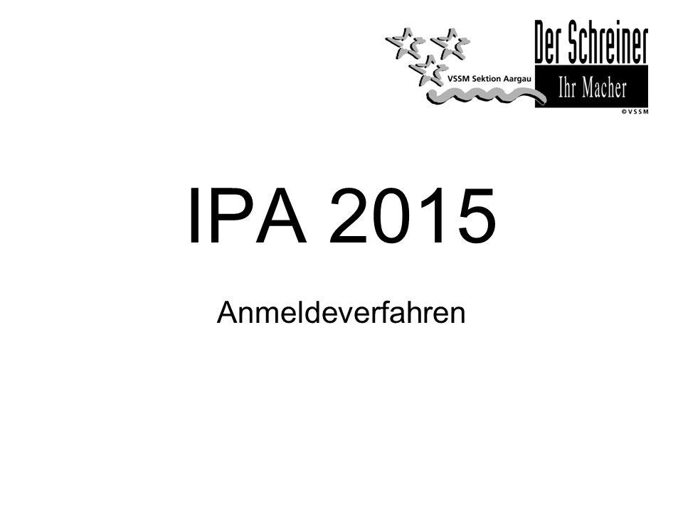 IPA 2015 Anmeldeverfahren
