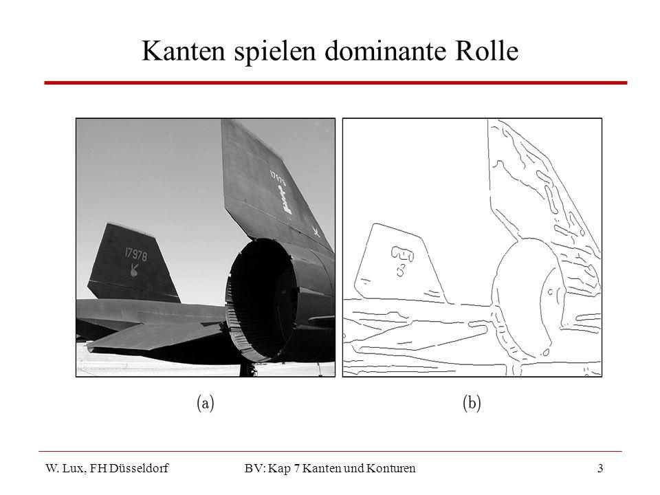 W. Lux, FH Düsseldorf BV: Kap 7 Kanten und Konturen24 Vergleich unterschiedlicher Kantendetektoren