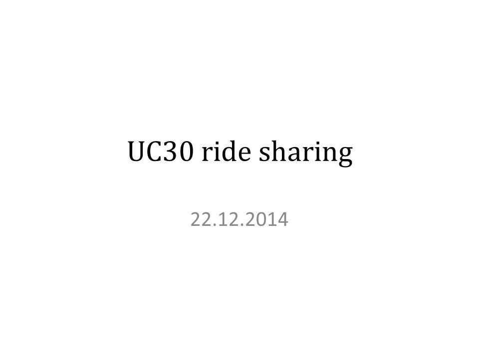UC30 ride sharing 22.12.2014