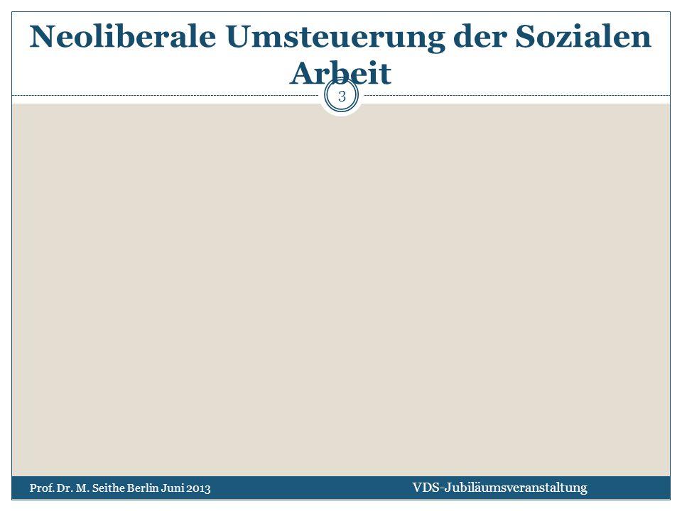 Neoliberale Umsteuerung der Sozialen Arbeit VDS-Jubiläumsveranstaltung Prof. Dr. M. Seithe Berlin Juni 2013 3