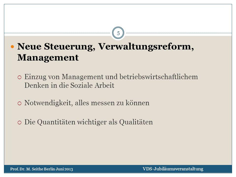 Neue Steuerung, Verwaltungsreform, Management  Einzug von Management und betriebswirtschaftlichem Denken in die Soziale Arbeit  Notwendigkeit, alles