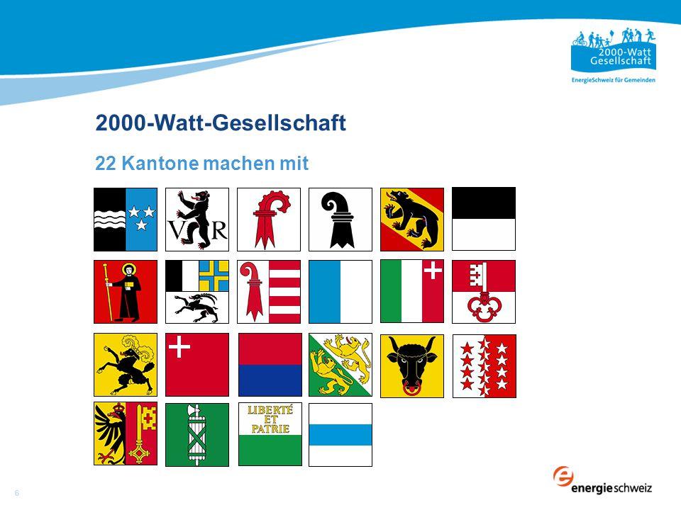 22 Kantone machen mit 2000-Watt-Gesellschaft 6