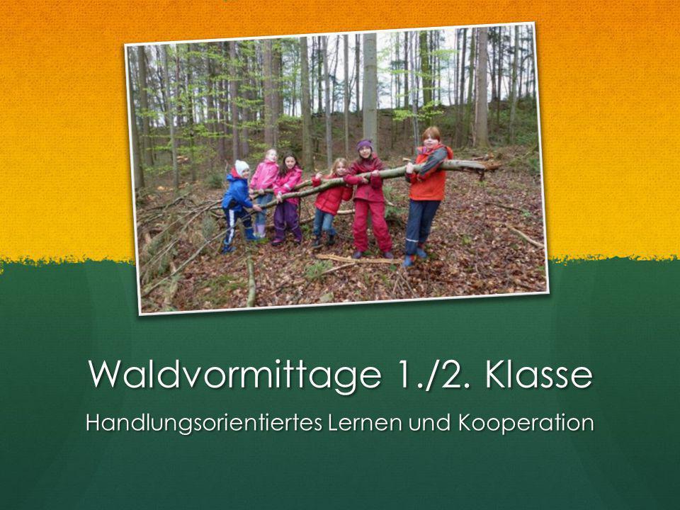 Waldvormittage 1./2. Klasse Handlungsorientiertes Lernen und Kooperation