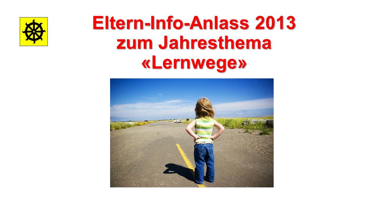 Eltern-Info-Anlass 2013 zum Jahresthema «Lernwege»