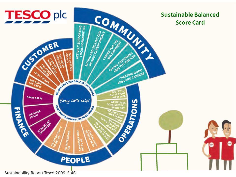 Sustainable Balanced Score Card Sustainability Report Tesco 2009, S.46