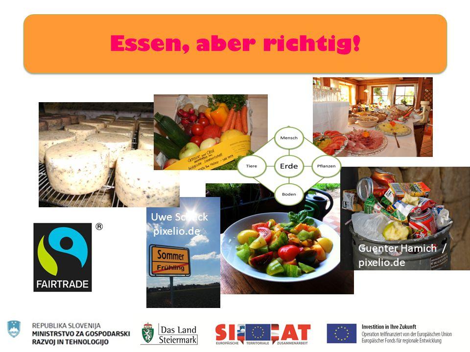 Essen, aber richtig! Uwe Schlick pixelio.de Guenter Hamich / pixelio.de