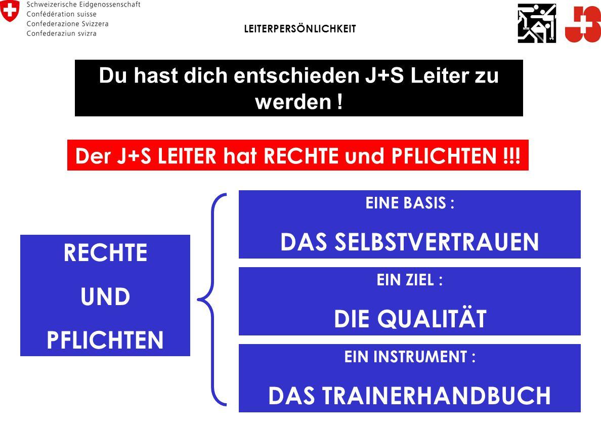 Der J+S LEITER hat RECHTE und PFLICHTEN !!.