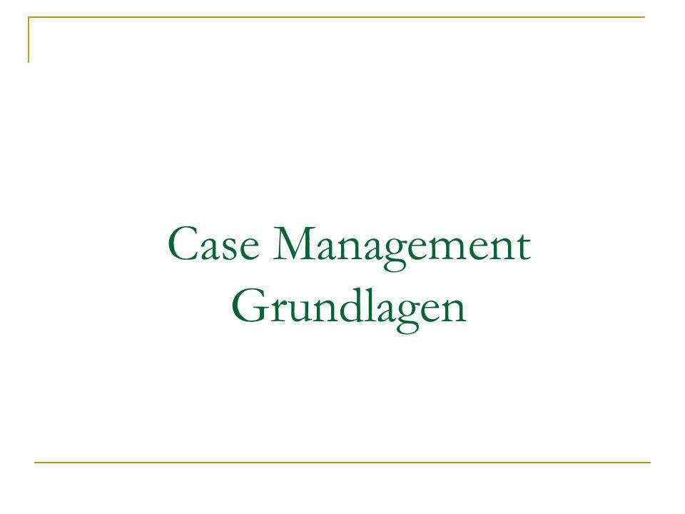 Definition 1 Case Management hat zum Ziel, im individuellen Fall prozesshaft die zeitlichen und räumlichen Dimensionen des Versorgungsgeschehens zu erfassen, mit den unterschiedlichen Akteuren gemeinsame Ziele festzulegen und über eine bestimmte Zeitspanne oder den gesamten Betreuungsverlauf hinweg die Koordination der Versorgung eines Patienten sicherzustellen (Wirnitzer 2002)