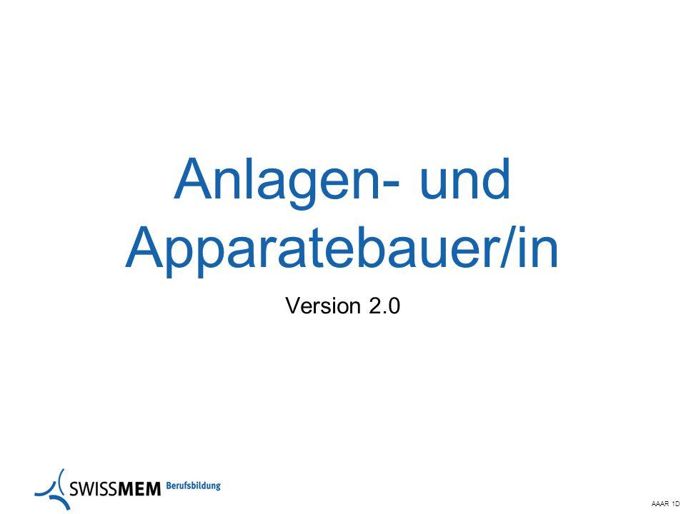AAAR 1D Anlagen- und Apparatebauer/in Version 2.0