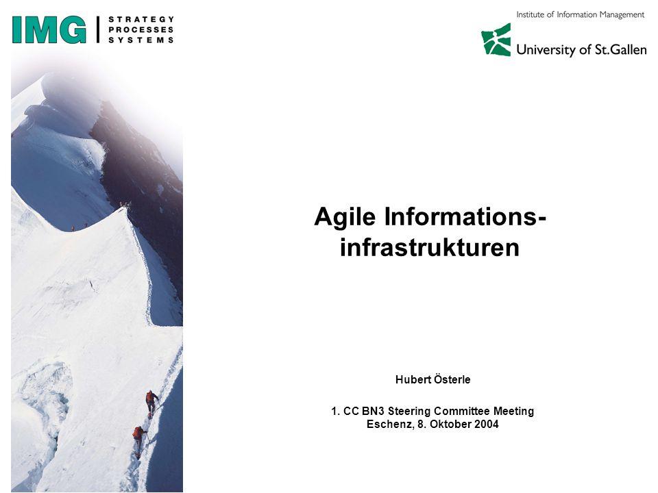 Agile Informations- infrastrukturen Hubert Österle 1.