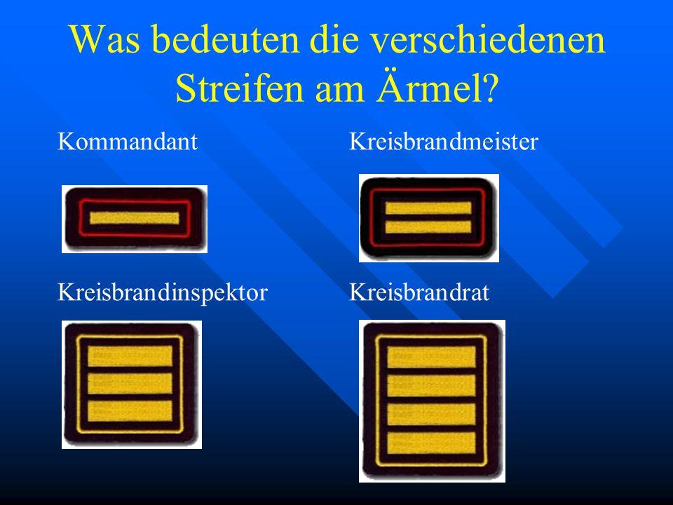 """Kreisbrandrat, Kreisbrandinspektor, Kreisbrandmeister und auch der Kommandant werden als """"besondere Führungsdienstgrade"""" bezeichnet – ihnen ist eine b"""