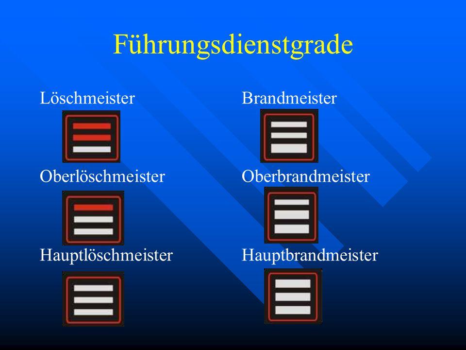 Mannschaftsdienstgrade Feuerwehrmann Oberfeuerwehrmann Hauptfeuerwehrmann