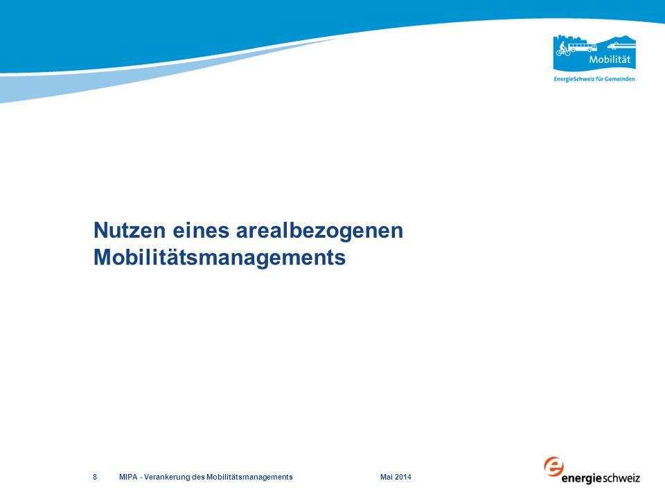 Elemente  Zonenplan  Bau- und Nutzungsordnung  Bau- und Zonenordnung Charakter  grundeigentümerverbindlich Nutzungsplanung MIPA - Verankerung des Mobilitätsmanagements Mai 2014 29