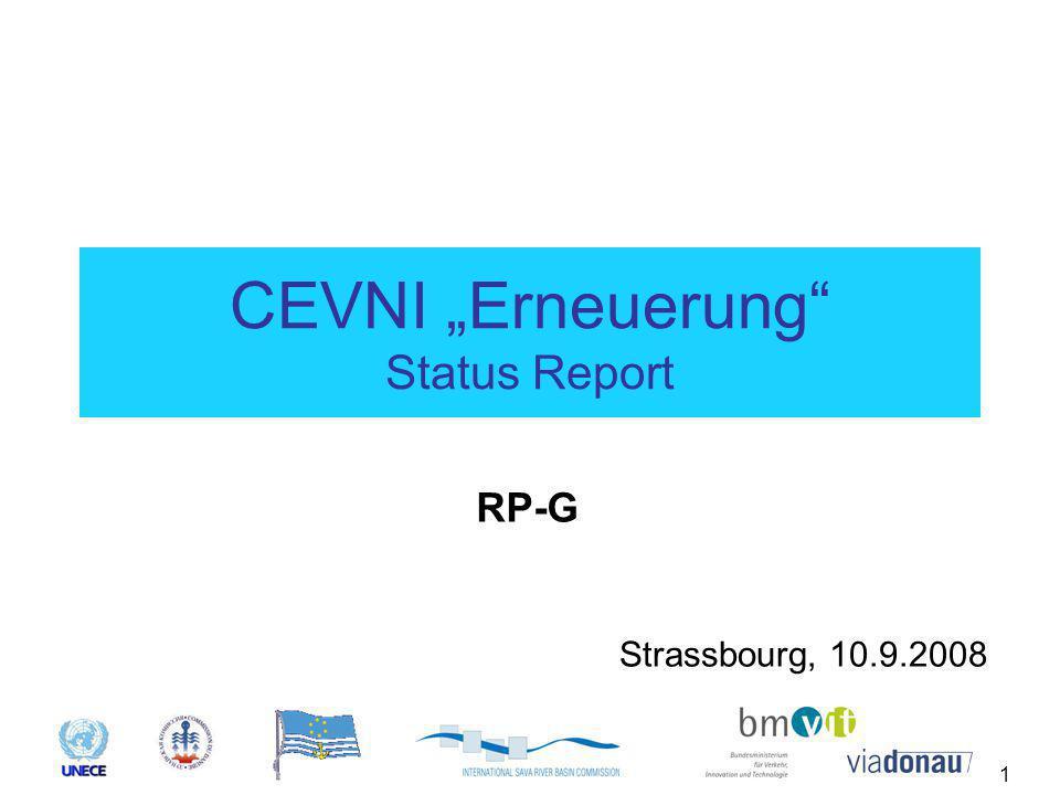 """1 CEVNI """"Erneuerung Status Report Strassbourg, 10.9.2008 RP-G"""