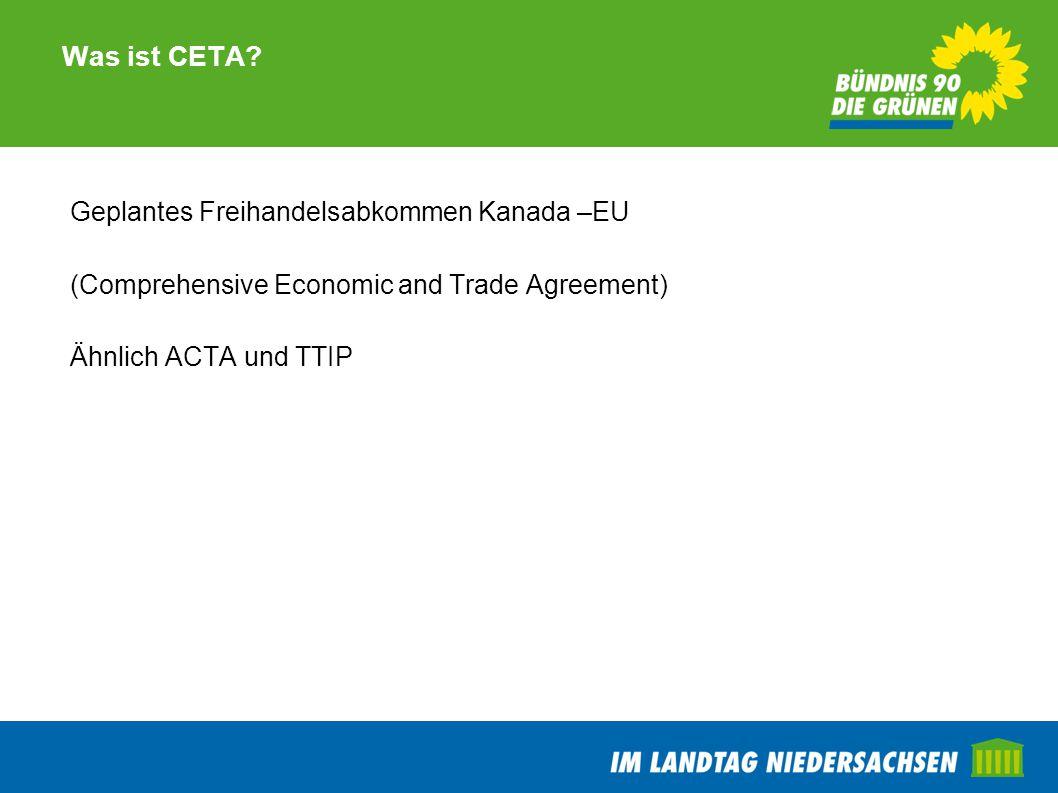 TTIP Wie positioniert sich rot-grün in Niedersachsen.
